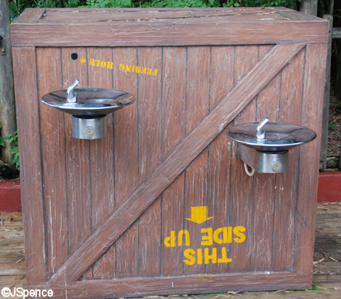 Jungle Cruise drinking fountain
